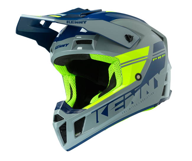 CASQUE KENNY Performance Prf Gris/Jaune Fluo