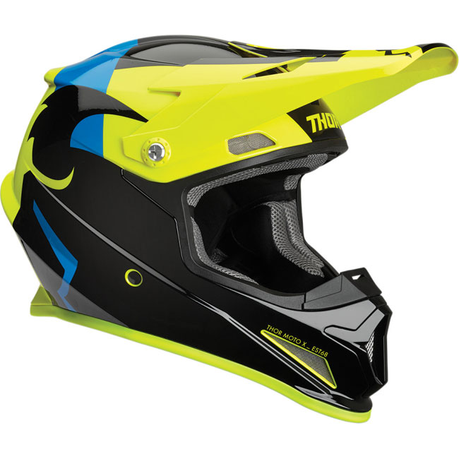 CASQUE THOR MX Sector Shear Noir/Acid