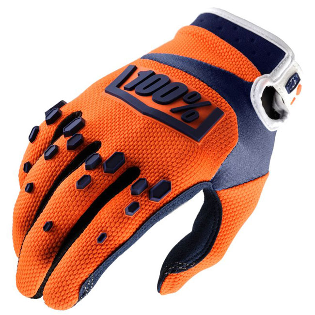 GANTS 100% Airmatic Orange/Bleu